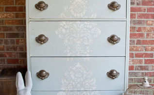 chest of drawers gets old world makeover with stencil crackle finish, painted furniture, The finished piece I think it ended up with the old world look I was hoping for
