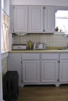 how to make your kitchen cabinets look built in using scrap wood, diy, how to, kitchen cabinets, kitchen design, woodworking projects