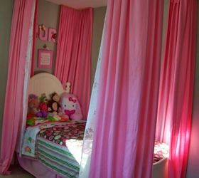 Curtains Over Little Girls Bed, Bedroom Ideas, Diy, Home Decor, How To