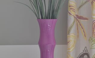 radiant orchid painted glass vase, crafts, home decor, painting, Radiant Orchid Painted Glass Vase