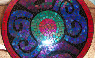 this is my first mosaic tile project being influenced and inspired by my mexican, crafts, Top view of table