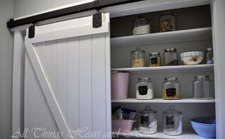 adding a pantry w a sliding barn door, closet, doors, kitchen design, When we moved into our house it didn t have a pantry so we added one