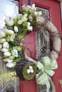 spring wreath, crafts, seasonal holiday decor, wreaths