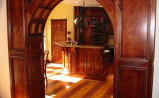 sharing custom woodwork and design for kitchens and baths in sandy springs, home decor, kitchen design, Custom maple kitchen with American cherry stripes in floor