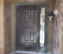 q painting front entry way door, curb appeal, doors, foyer, painting