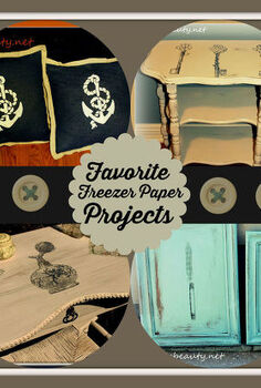 freezer paper its not just for food anymore get crafty with it, appliances, crafts, home decor, kitchen cabinets, kitchen design, living room ideas, painted furniture, repurposing upcycling