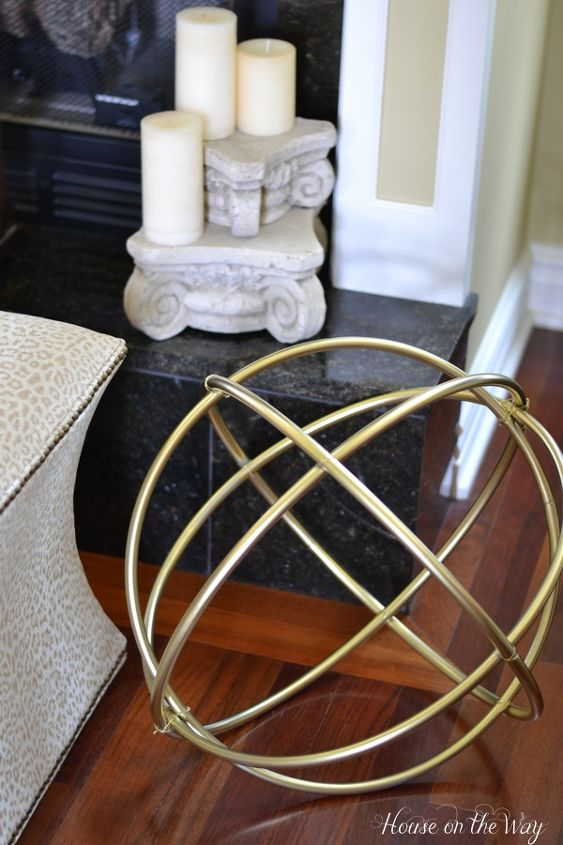 DIY Gold Decorative Sphere Made From Hula Hoops Hometalk