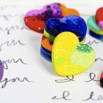 last minute valentine s day decorating ideas, crafts, seasonal holiday decor, Recycled crayons turn into adorable hearts that still work as crayons for a great crafting and upcycling project
