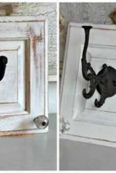 repurpose cabinet doors to coat hooks, home decor, repurposing upcycling