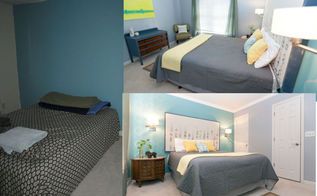 guest bedroom makeover the plan this makeover is very close to my heart i did it in, bedroom ideas, home decor, painting, Before After Pictures of the bedroom