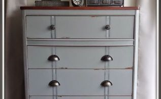 antique highboy goes industrial, painted furniture