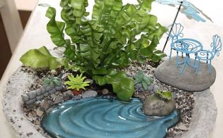 papercrete for fairy gardens, container gardening, crafts, gardening, Fairy Garden in Papercrete Planter