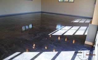 designer metallic epoxy garage floor, flooring, garages, painting