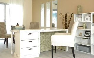 repurposed dresser into a desk, craft rooms, home decor, home office, painted furniture, repurposing upcycling