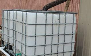 rainwater tote system captures and stores water affordably, curb appeal, diy, go green, how to
