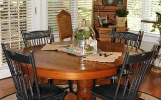stripping an antique oak pedestal table, painted furniture, woodworking projects