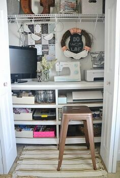 an office in a closet yes much more, closet, craft rooms, home decor, home office