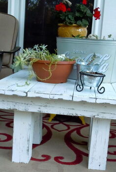 another pallet table i know another one, outdoor furniture, painted furniture, pallet, repurposing upcycling, rustic furniture