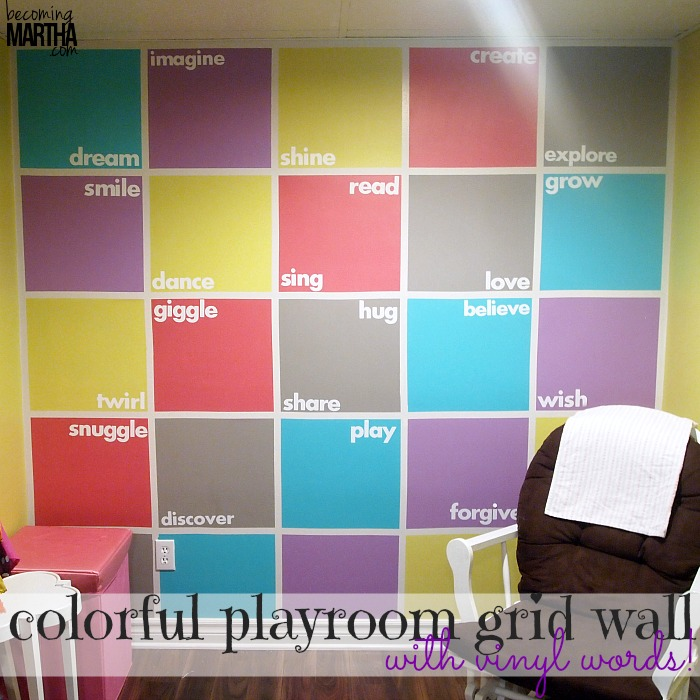 Colorful playroom accent wall hometalk - Funny playroom with colorfull wall paint idea ...
