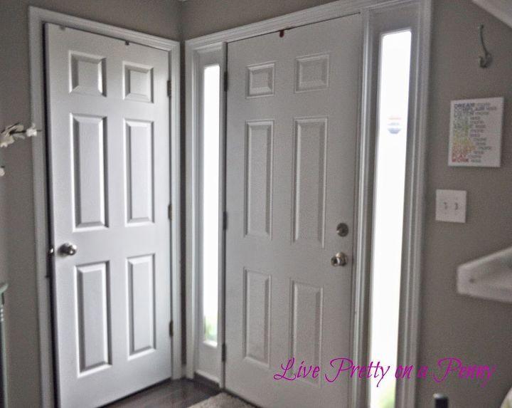Painting Foyer Doors : Dark gray painted door hometalk