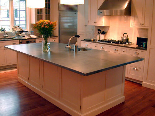 Another Example Of A Zinc Countertop For The Kitchen