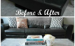 glass coffee table update, home decor, living room ideas, painted furniture