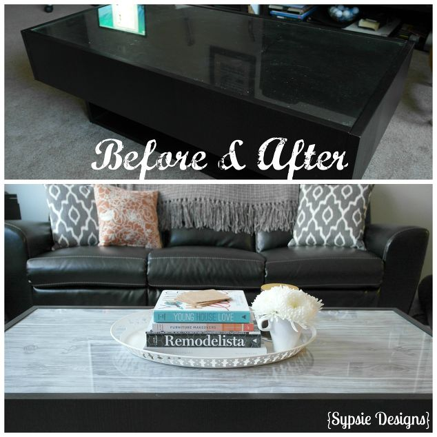 Glass Coffee Table Update Home Decor Living Room Ideas Painted Furniture