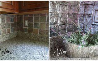 cover an ugly tile backsplash, diy, kitchen backsplash, kitchen design, paint colors, tiling, wall decor