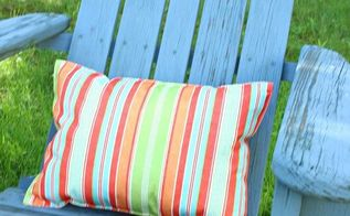 easy placemat pillow, crafts, outdoor furniture, outdoor living, painted furniture