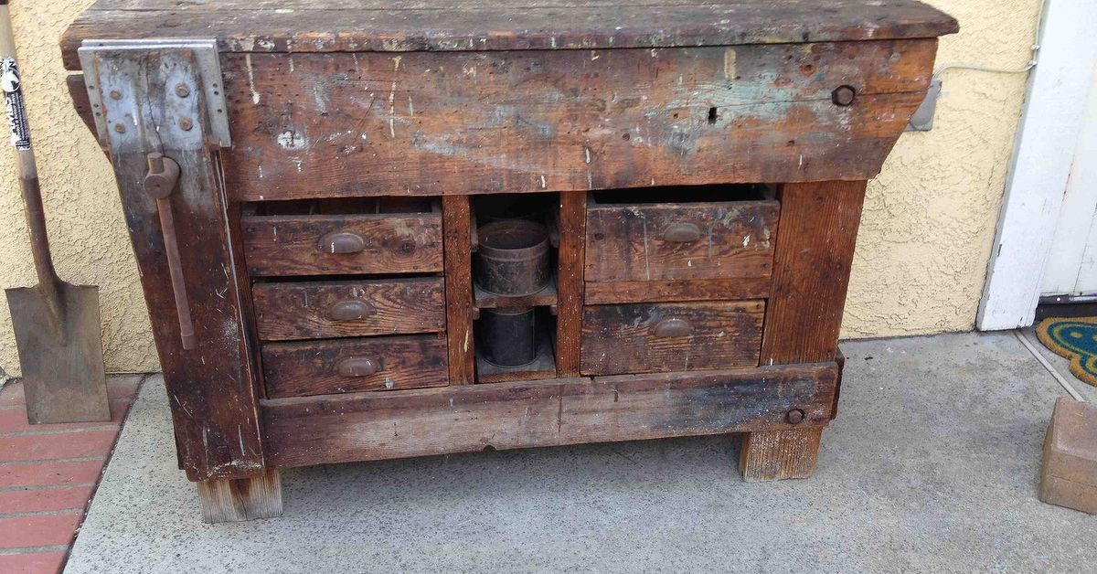 Need Ideas For Repurposing This Old Work Potting Bench