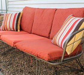 Superior Refurbished Vintage Patio Couch, Painted Furniture, Reupholster