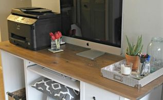 ikea desk transformation, chalk paint, craft rooms, home decor, home office, painted furniture