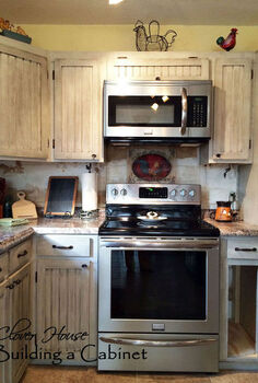 we built a drop in kitchen cabinet, closet, diy, how to, kitchen cabinets, kitchen design, woodworking projects