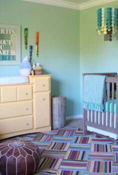 colorful gender neutral nursery full of diy, bedroom ideas, chalkboard paint, crafts, diy, home decor