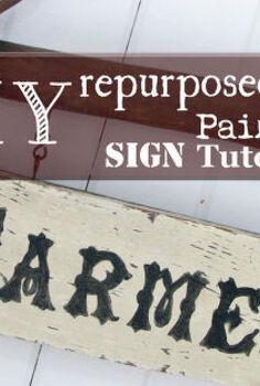 diy repurposed painted sign tutorial, crafts, repurposing upcycling