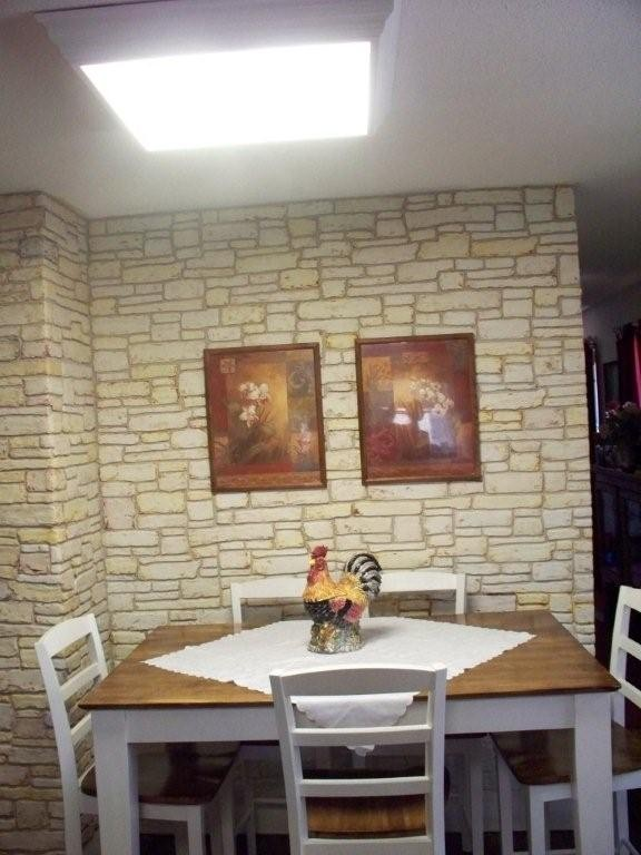 Plain Walls Are Transformed In To Stone Walls With Joint Compound Hometalk