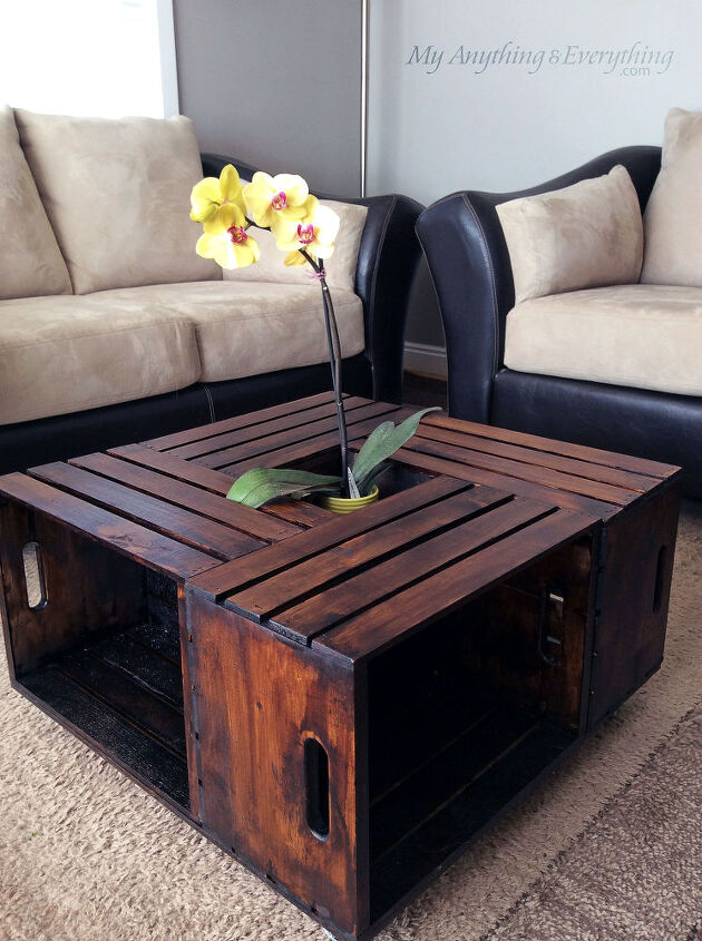 Diy Crate Coffee Table Painted Furniture