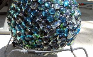 yard art, crafts, gardening, Marbled Sphere