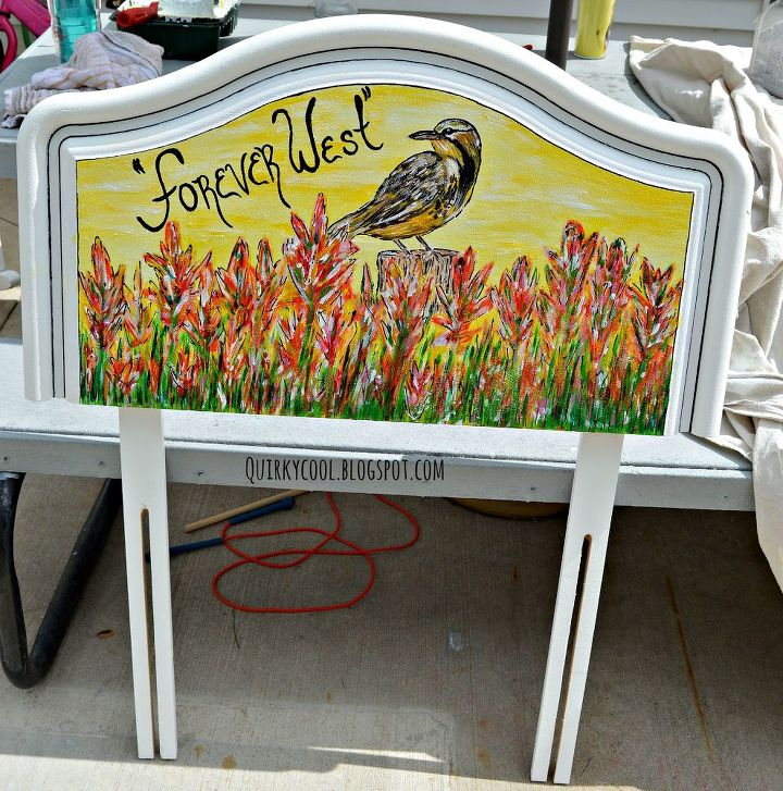 From headboard to yard mural hometalk for Mural headboard