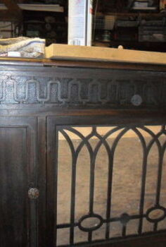 victrola to serving station, painted furniture
