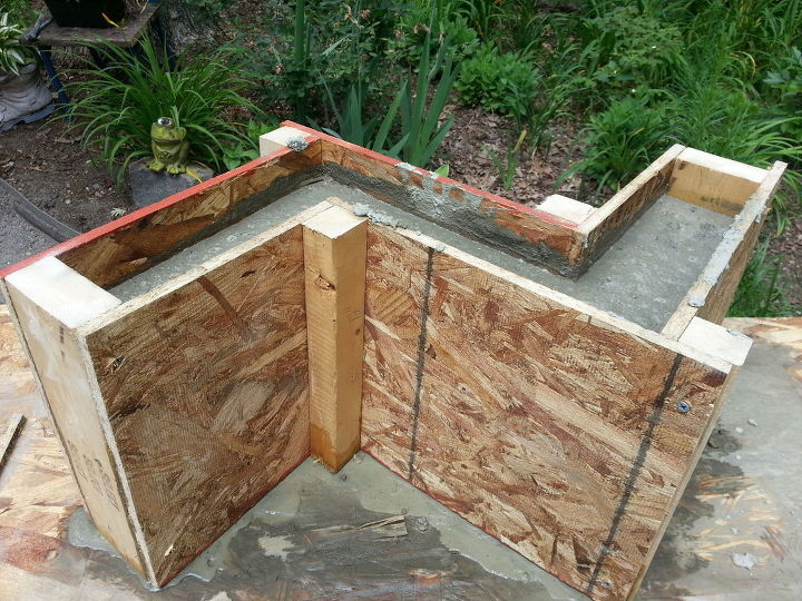 part 2 directions for concrete bench base, concrete masonry, diy,  gardening, outdoor - Part 2-directions For Concrete Bench Base Hometalk