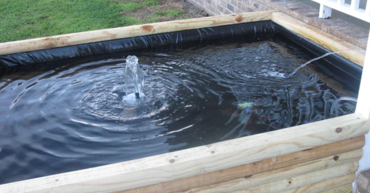 Koi pond hometalk for Pond size for koi
