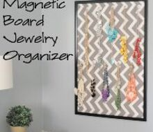 easy to make jewelry organizer, organizing