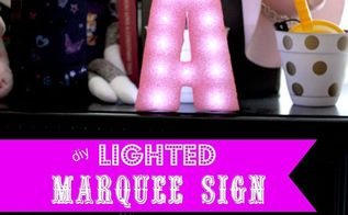 easy diy lighted marquee from styrofoam, diy, home decor, how to, lighting