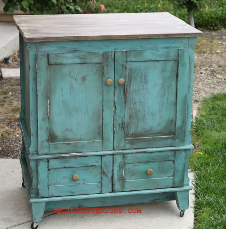Out Of The Box Bathroom Vanity Turns Rolling Kitchen Island Hometalk