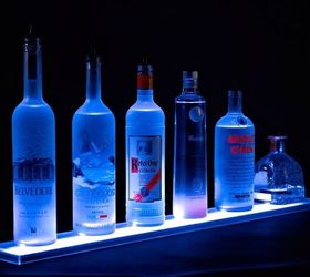 Home Bar Lighting 2 Led Lighted Liquor Bottle Display Shelf, Lighting,  Shelving Ideas,