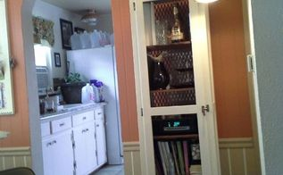 upcycled kitchen 1950 s kitchen cupboard into liquor cabinet bookshelf, painted furniture, repurposing upcycling, storage ideas