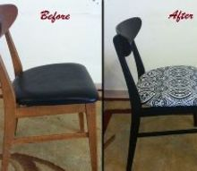 dining room chairs makeover, painted furniture