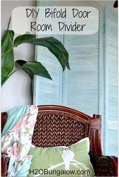 diy bifold door room divider, diy, home decor, how to, repurposing upcycling, woodworking projects