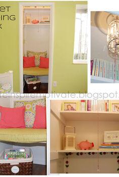 closet reading nook, bedroom ideas, home decor